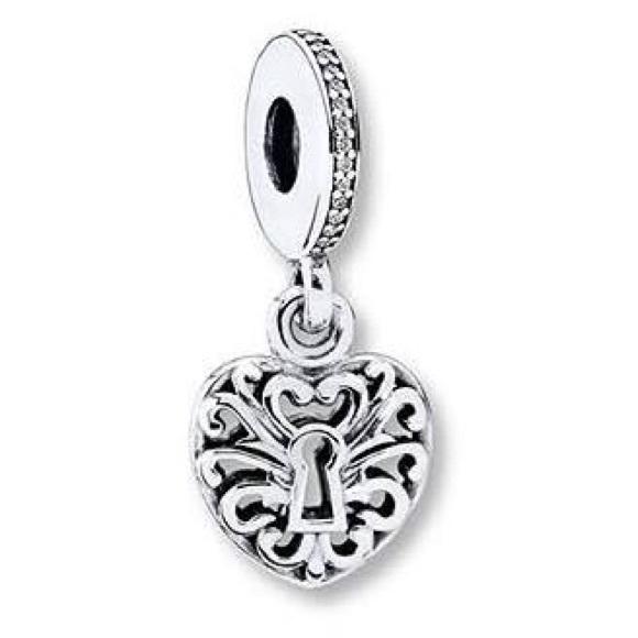 41232d47f NWOT pandora intricate heart lock dangle charm. M_5cb16c9c689ebc1df99fa2e5